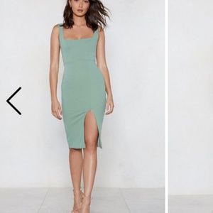 NWT Fitted Midi Cocktail Dress